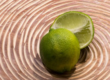 Lime cut in half Royalty Free Stock Image