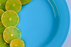 Lime cut into thin slices Stock Photography