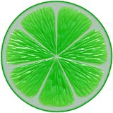 Lime cutout Royalty Free Stock Images