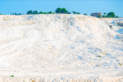 Lime deposits in Pamukkale Royalty Free Stock Photo