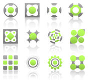 Lime design elements part 1. Collection of 12 design elements and graphics in green and gray color. Part 1 Stock Photography