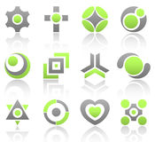 Lime design elements part 4. Collection of 12 design elements and graphics in green and gray color. Part 4 Stock Images