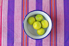 Lime in dish Royalty Free Stock Photos