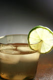 Lime drink. Lemonade drink which has been shot under special lighting conditions Stock Images