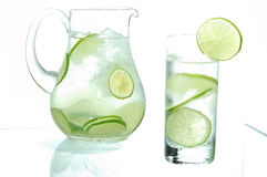 Lime drink. On white background Royalty Free Stock Photography