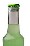 Lime drink bottle closeup Royalty Free Stock Images