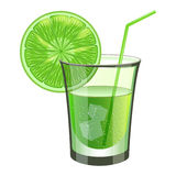 Lime drink with fruit Stock Images