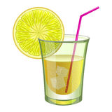 Lime drink with fruit Stock Photo