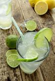 Lime drink with ice Stock Images
