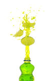 Lime drink splash Stock Photos
