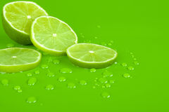Lime and drop Royalty Free Stock Photos