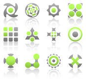 Lime esign elements part 2. Collection of 12 design elements and graphics in green and gray color. Part 2 Royalty Free Stock Photos