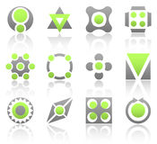 Lime esign elements part 3. Collection of 12 design elements and graphics in green and gray color. Part 3 vector illustration