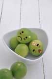 Lime in Expression Face comic. Royalty Free Stock Image