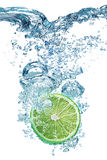 Lime falls deeply under water Stock Image