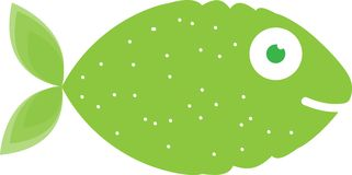 Lime fish. Abstract illustration of a fish and lime together stock illustration
