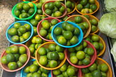 Lime. Fresh lime on sale in market Stock Photos