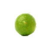 Lime fruit covered with the multiple water drops Stock Images
