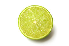 Lime fruit cross section Stock Photo