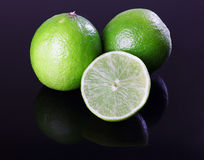 Lime. Fruit cut group citrus half slice fresh vegetarian piece food raw ingredient juicy healthy closeup vibrant green organic ripe peel diet tropical segment royalty free stock photography