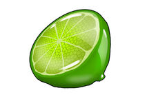 Lime fruit hard candy Royalty Free Stock Images