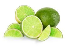 Lime fruit isolated stock image