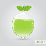 Lime fruit juice Royalty Free Stock Photo