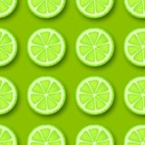 Lime fruit seamless pattern. Stock Photos