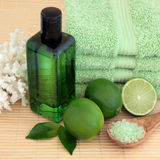 Lime Fruit Spa Royalty Free Stock Images