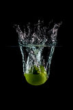 Lime Fruit Splash Stock Images