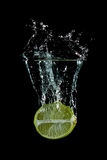 Lime Fruit Splash Royalty Free Stock Images