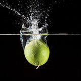 Lime Fruit Splash Stock Photos