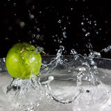 Lime Fruit Splash Royalty Free Stock Photography