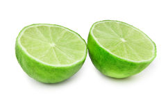 Lime fruit on white Stock Photos