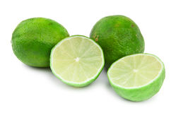 Lime fruit on white Royalty Free Stock Photography