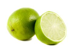 Lime fruits isolated on white Stock Image