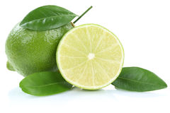 Lime fruits isolated on white Stock Images