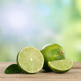 Lime fruits in summer with copyspace Stock Photo