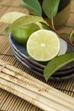 Lime Fusion. Lime with details of Asian fusion cuisine Royalty Free Stock Photos