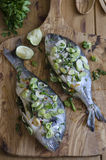 Lime and ginger sea bream Royalty Free Stock Photos