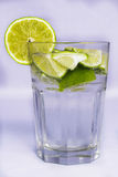 Lime glass. A glass withe a lime Stock Image