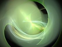 Lime glowing abstract fractal with circular lines and waves Royalty Free Stock Photography