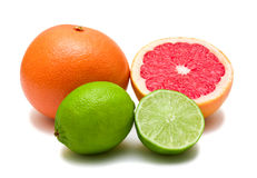 Lime and grapefruit Royalty Free Stock Photography