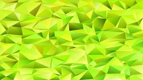 Lime green abstract chaotic triangle pattern background - vector mosaic graphic Stock Images