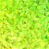 Lime green abstract chaotic triangle pattern background - geometrical vector graphic design from triangle tiles Royalty Free Stock Images