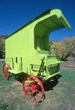 Lime green antique wagon, Royalty Free Stock Photo