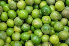 Lime green background in market. Stock Photography