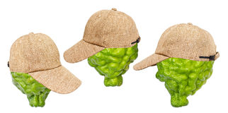 lime green cap Royalty Free Stock Images