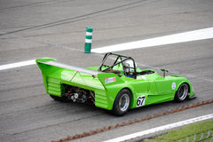 Lime Green Classic Sports Racing Car Stock Image