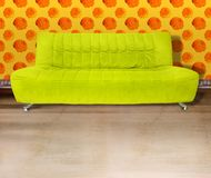 Lime green couch Stock Photo